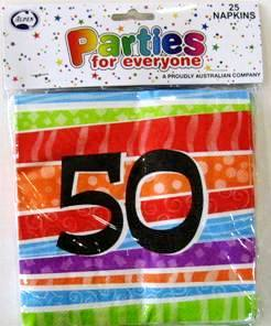 Napkins Lunch Luau Party 50 Pk25