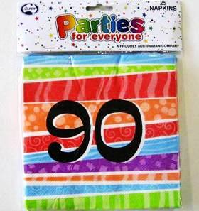 Napkins Lunch Luau Party 90 Pk25
