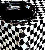 Table Cover B & W Check 137cmx274cm