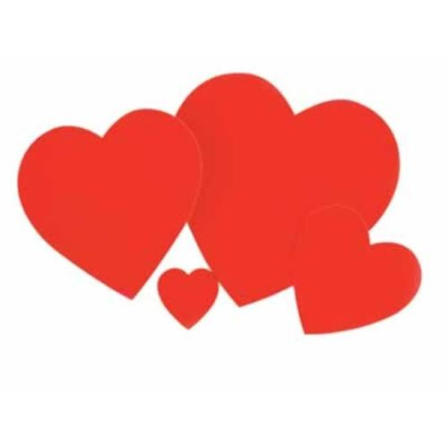 Cutouts Hearts Foil Red 40pcs