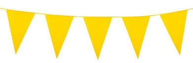 Flag Bunting Yellow 5M