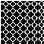 Napkins Lunch Quatrefoil Black Pk16