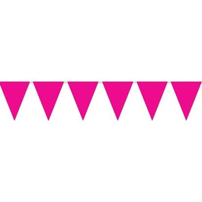 Flag Bunting Hot Pink 25.4cmx3.6m