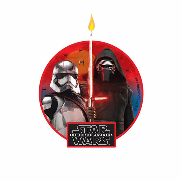 Star Wars Episode 7 Force Awakens Flat Candle