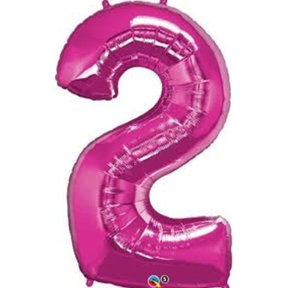Balloon Number Megaloon Two Pink 86cm