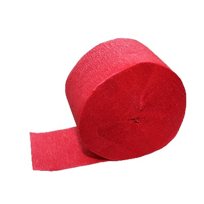 Streamer Red 5cm x 25M