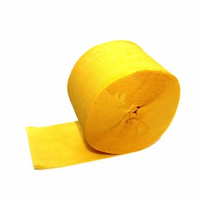 Streamer Yellow 5cm x 25M