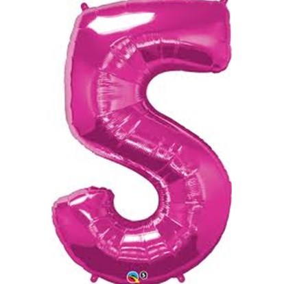 Balloon Number Megaloon Five Pink