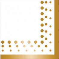 Napkins Lunch Sparkle&Shine Gold Pk16
