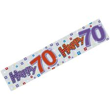 Banner Happy Birthday 70th 2.7M x 20CM