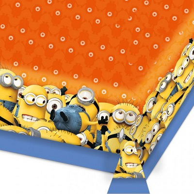 Minions Tablecover Plastic 1.8M x 1.2M  sc 1 st  party shop \u0026 hire & Despicable Me Minion table cover \u0026 party supplies at great prices ...