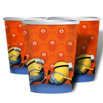 Minion Cups 266ml Pk8