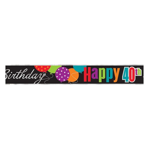 Banner Foil Birthday Cheer 40th
