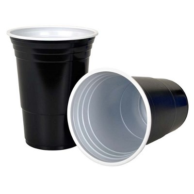 Beer Pong Cups Black 450ml Pk25