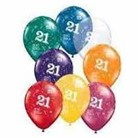 Balloons - Numbers Around  21st  Assorted colours