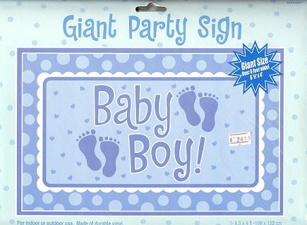 Giant Sign - Baby Boy at PartyZone 09 4421442