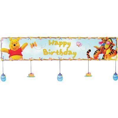 Plastic Happy Birthday Party Banner